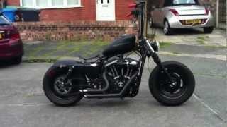 getlinkyoutube.com-Harley custom bobber fresh from C..W fabrications (is that a custom harley?)