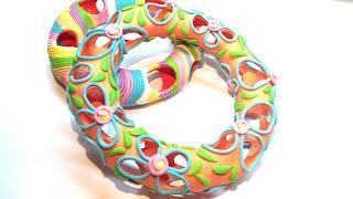 getlinkyoutube.com-Hollow Bracelet- Polymer Clay (Fimo) Tutorial