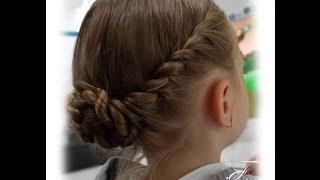 getlinkyoutube.com-Zaplatany kok | Twisted bun | Fryzury Dziewczęce ♡