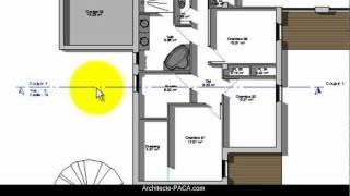 getlinkyoutube.com-COUPE d'une maison pour permis de construire - Définition, exemple | Architecte-paca.com