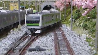 getlinkyoutube.com-Nゲージ 横浜線 E233系6000番台(KATO) 走行シーン集