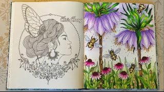 Dagdrömmar Coloring Book   The Secret Life of Bees   Coloring With Colored Pencils