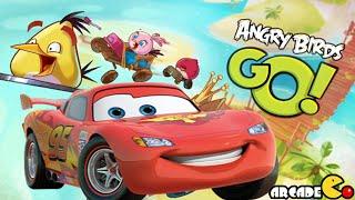 getlinkyoutube.com-Angry Birds Go: Multiplayer Team Racing, Disney Cars Fast as Lightning Team Racing