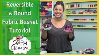 getlinkyoutube.com-Reversible Round Basket - DIY Tutorial