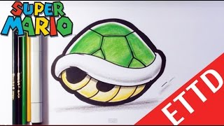 getlinkyoutube.com-How to Draw a Shell from Mario Bros - Easy Things To Draw