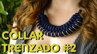 getlinkyoutube.com-COMO HACER UN COLLAR TRENZADO - PARACORD NECKLACE