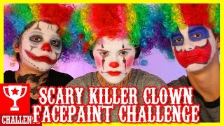 getlinkyoutube.com-SCARY KILLER CLOWN!  FACE PAINT CHALLENGE!     KITTIESMAMA