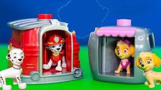 getlinkyoutube.com-PAW PATROL Nickelodeon Paw Patrol Marshal and Skye Pup to Hero Funny Kids Toys Video