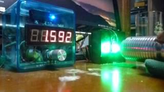 getlinkyoutube.com-超爆光!! 自作グリーンレーザーポインター 1700mw カスタムホスト