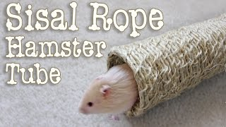 Natural Sisal Rope Hamster Tube DIY by Hammy Time