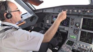 Cobalt Air Airbus A319   Cockpit Flight Zurich-Larnaca   Cockpit View from Takeoff to Landing!