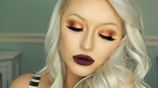 getlinkyoutube.com-Morphe 35O Palette Tutorial | Burnt Orange Eyes & Deep Lips