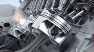 Работа двигателя и трансмиссии BMW М5.