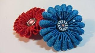getlinkyoutube.com-Tutorial: Zigzag flowers. Flores zigzag.