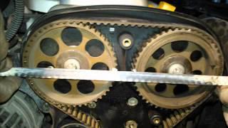 getlinkyoutube.com-Motor Opel Corsa 1.8 Lts. cambio de banda de distribución Change timing belt.