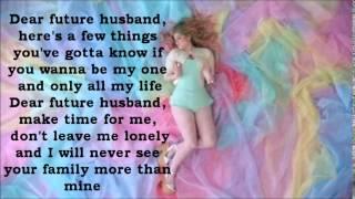 getlinkyoutube.com-Meghan Trainor - Dear Future Husband Lyrics