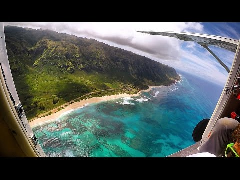 Skydiving out of Small Plane at 15,000 Feet! - Hawaii (Worlds Most Beautiful Drop Zone)