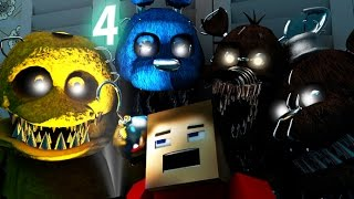 getlinkyoutube.com-Five Nights At Freddy's 4 IN MINECRAFT [3D Minecraft Animation] FNAF 4