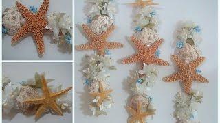 getlinkyoutube.com-Corona/Diadema para el cabello con motivo del mar (estrellas de mar, conchas, perlitas y flores)