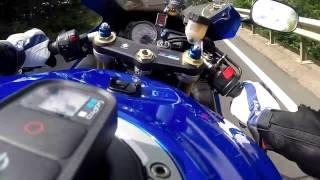 Suzuki GSXR 600 VS GSX-R 1000 crash GOPRO