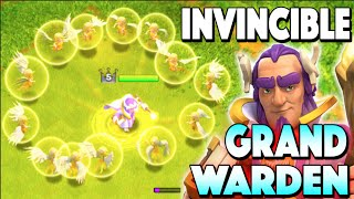 Clash of Clans - INVINCIBLE GRAND WARDEN! Undying New Update Hero Attacks!