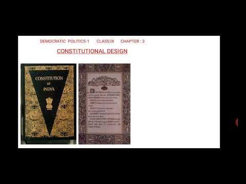Class 9, Democratic Poltics, Constitutional Design Part -2