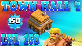 "getlinkyoutube.com-CLASH OF CLANS - TOWN HALL 4 AT (LVL 150) ""MAXED BASE LVL 11 BLUE WALLS"" (MUST WATCH)"