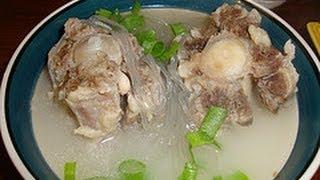 getlinkyoutube.com-Recipe for Seolleongtang / Ggori Gomtang 꼬리곰탕  Korean Ox tail soup