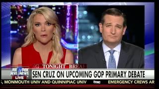 Ted Cruz w/Megyn Kelly; Fox News; 8/4/2015