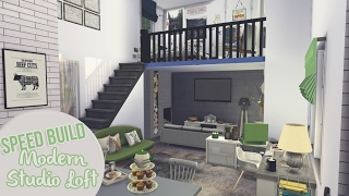 getlinkyoutube.com-MODERN STUDIO LOFT | The Sims 4 Speed Build
