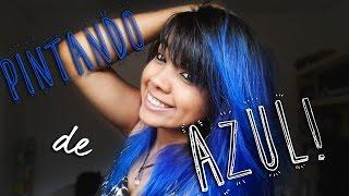 getlinkyoutube.com-Pintado o cabelo de AZUL!!!!!! Decidi mudar do ROSA para o AZUL!!