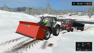 getlinkyoutube.com-Dumping snow in river | Goldcrest Valley snow | Farming Simulator 2017 | Episode 2