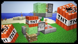 getlinkyoutube.com-✔ Minecraft: How to make a Slime Block Cannon