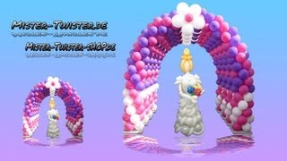 getlinkyoutube.com-Balloon arch  decoration, Ballon Bogen Dekoration, Modellierballon Ballonfiguren