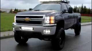 "getlinkyoutube.com-2011 Chevy Dmax 7"" lift & 37""s + Rigid LED lights"