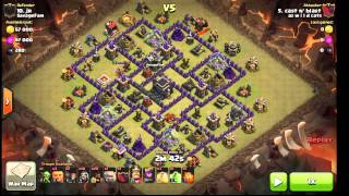 getlinkyoutube.com-Shattered Goho. Surgical Hogs. Max TH9. With Poison Spell. Clan War