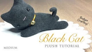 getlinkyoutube.com-DIY Black Cat Plush and Halloween Hairband Tutorial