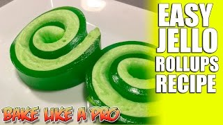 getlinkyoutube.com-Easy JELLO Roll Ups Recipe - Super FAST !