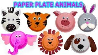 getlinkyoutube.com-How to create Cute Animals using Paper Plates |  Craft Videos for Kids | Jugnu Kids
