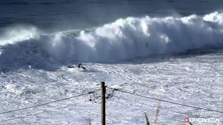 getlinkyoutube.com-Here's what It's like to Ride a Monster Wave at Nazaré   Behind the Lines, Ep. 4