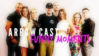 getlinkyoutube.com-arrow cast + funny moments