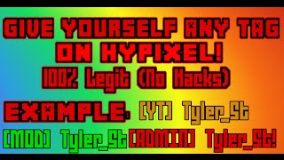 getlinkyoutube.com-HYPIXEL | Give yourself ANY RANK TAG!!!!! | 100% LEGIT!!! (No Longer Works)