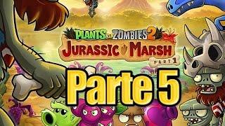 getlinkyoutube.com-Plants vs Zombies 2 - Parte 5 Pantano del Jurasico - Español