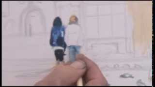 getlinkyoutube.com-Lincoln version 2 - Watercolour - Painting figures & buildings - Complete work.