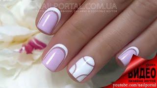 getlinkyoutube.com-Дизайн ногтей гель-лак shellac - Обратный френч (видео уроки дизайна ногтей)