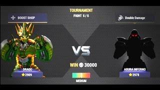 getlinkyoutube.com-Real Steel Champions   FINAL TOURNAMENT   DRAGO VS ASURA INFERNO NEW ROBOTS GAME (Живая сталь)
