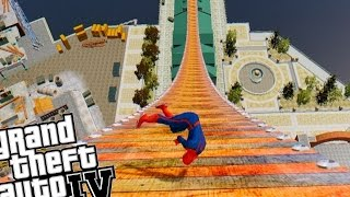 getlinkyoutube.com-Grand Theft Auto Skate Mod - Funny Spiderman Mega Ramp Fail