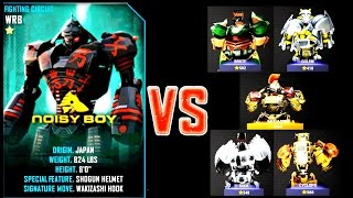 getlinkyoutube.com-Real Steel Champions Noisy Boy VS REGION III ROBOTS Series of fights NEW ROBOT(Живая Сталь)