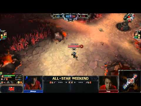 2013 ALL-STAR LoL 1v1 Mid lane final (Toyz) vs (Misaya)