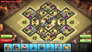getlinkyoutube.com-Th9 War base Clash of clans (anti dragon and Gowipe)
